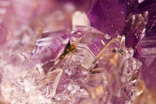 Crystals. Structure Of The Stone. Beautiful Background From Purple Natural Material. Macro