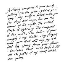 Handwritten Abstract Text Wall...