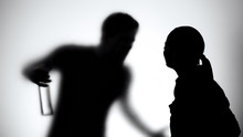 Silhouette Of Wife And Husband...