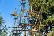 Masts And Rigging Of Tall Ship