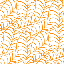 Seamless Autumn Leaf Pattern And Background Vector Illustration