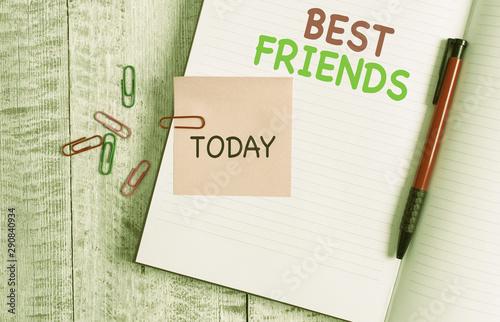 Fotografie, Obraz  Handwriting text Best Friends