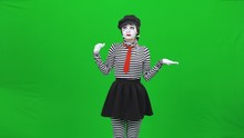 Mime Girl Is Eating Something,...