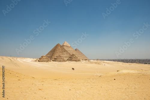 Stampa su Tela The Giza pyramid complex, also called the Giza Necropolis on the Giza Plateau in