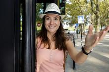 Happy Woman Having Excursion O...