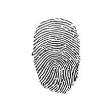 Black Fingerprint Shape. Secur...