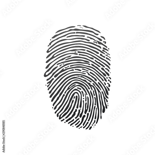 Fotomural Black fingerprint shape