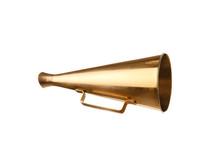 Retro Golden Metal Megaphone O...