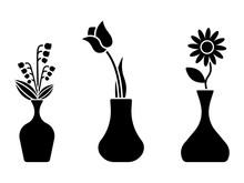 Flower Icon, Sign, Symbol, Bla...