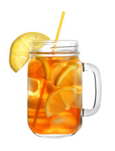 Mason Jar Of Refreshing Iced T...