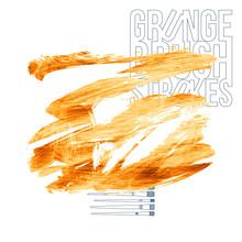Orange Brush Stroke And Textur...