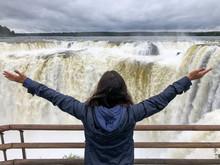 Freedom At The Iguazu Falls In...