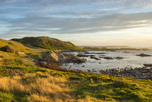 King Island Coast At Sunset