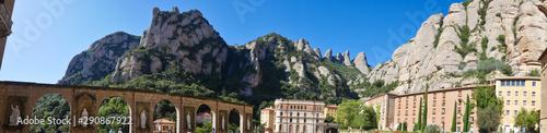 Foto auf AluDibond Barcelona Spain, Barcelona, Santa Maria de Montserrat Abbey