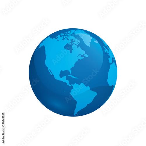 Obraz world planet earth space icon vector illustration - fototapety do salonu