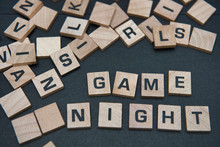 Letter Tiles Spelling Out The Words Game Night.