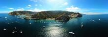 Catalina Island Beach Aerial View, California
