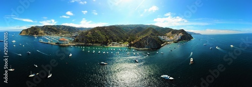 fototapeta na drzwi i meble Catalina Island beach aerial view, California