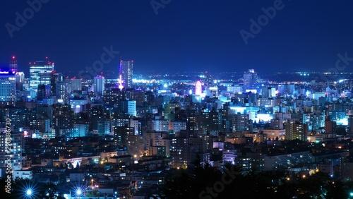 Deurstickers Las Vegas 日本新三大夜景を照らす中秋の名月