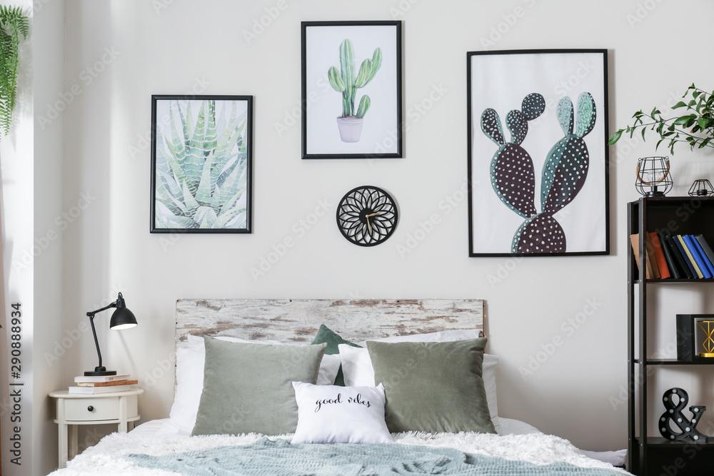 Fototapety, obrazy: Stylish interior of modern bedroom