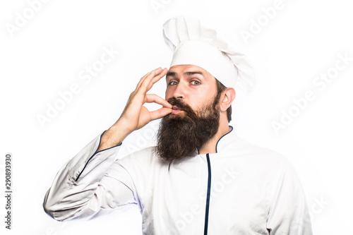 Fotomural  Professional chef man showing sign for delicious