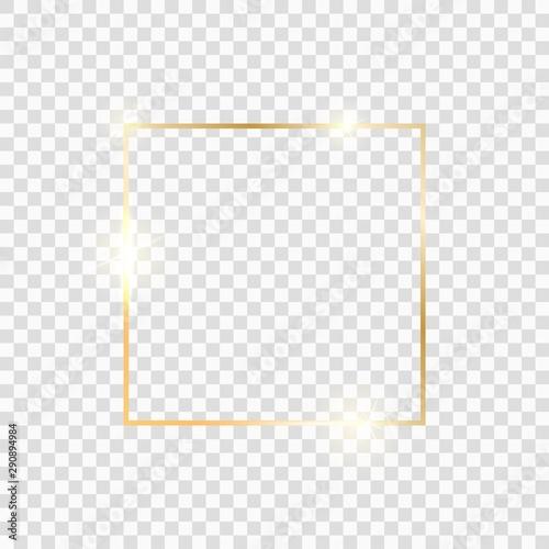 Fototapeta  Gold square frame