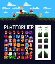 2d Platformer Set For Pixel Ar...