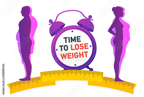 Vászonkép Time to Lose Weight