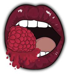 red lips, cartoon lips, rapsberry, juice sweet, usta, lips, sexy, malina