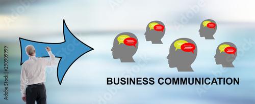 Poster Ecole de Danse Business communication concept drawn by a man