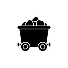 History, Mine Cart Icon. Simple Glyph, Flat Vector Of History Icons For Ui And Ux, Website Or Mobile Application