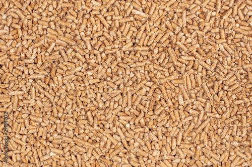 detail of natural wood pellets background