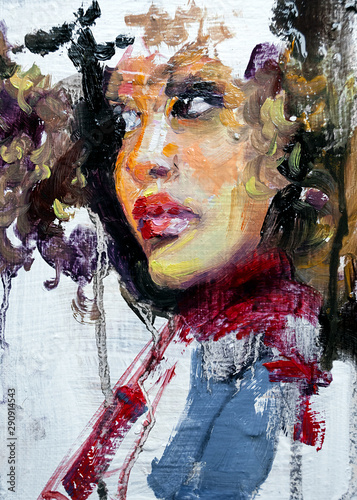 Portrait of african woman Canvas Print