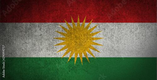 Carta da parati  Kurdistan Flag Texture
