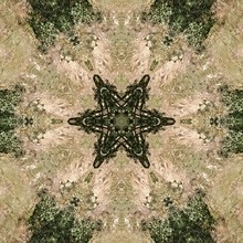 Abstract Green Kaleidoscope Picture. Computer Generated Image
