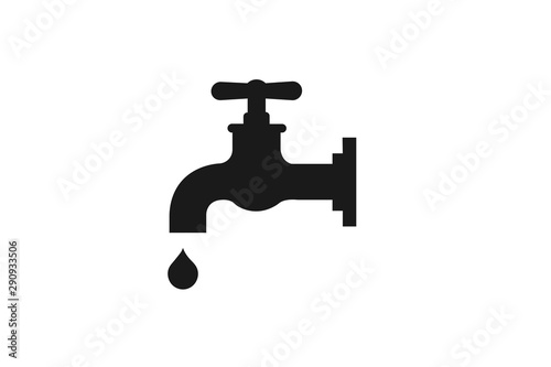 Fototapeta water tap icon vector illustration