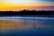 sunset over lake