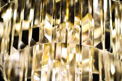 Fotografiet  Luxury chandelier with crystal glass, interior design and home decor lighting de