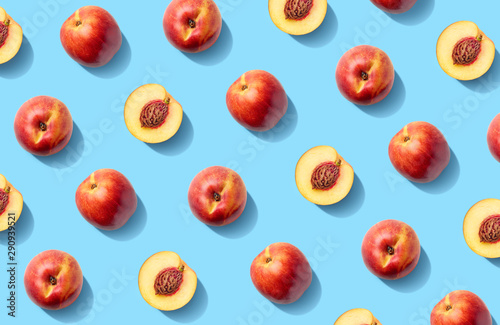 Fototapeta Colorful fruit pattern of fresh nectarines