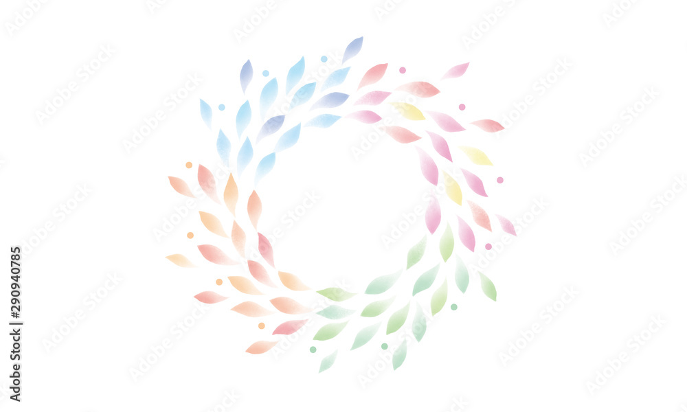 Fototapeta 水彩 葉 四季
