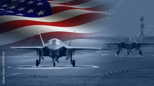Obraz American Military Jet - fototapety do salonu