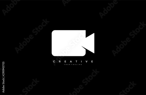 Fotografie, Obraz Video camera logo simple minimalist