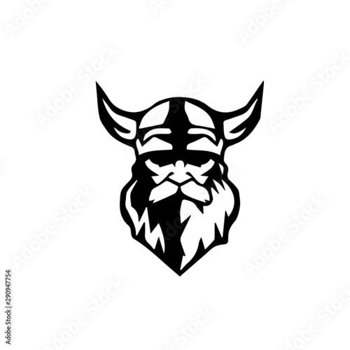 Photo viking warrior barbarian vector illustration
