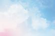 Leinwandbild Motiv cloud background with a pastel colour