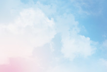 Cloud Background With A Pastel...