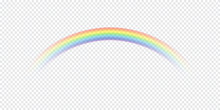 Vector Illustration. Rainbow Isolated On White With Transparency At The Ends. Rainbow Arch. Color Overlay