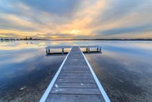 Lake Macquarie Jetty Sunset Re...