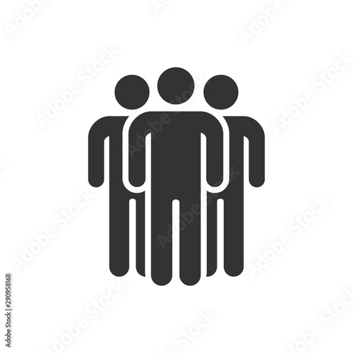 Fotografía  Group of people icon simple flat style illustration