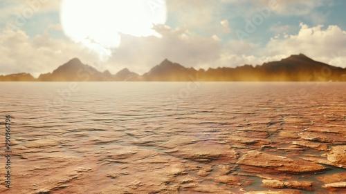 Apocalyptic desert Canvas Print