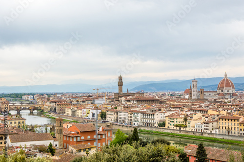 Fototapety, obrazy: Beautiful view of the medieval center of Florence